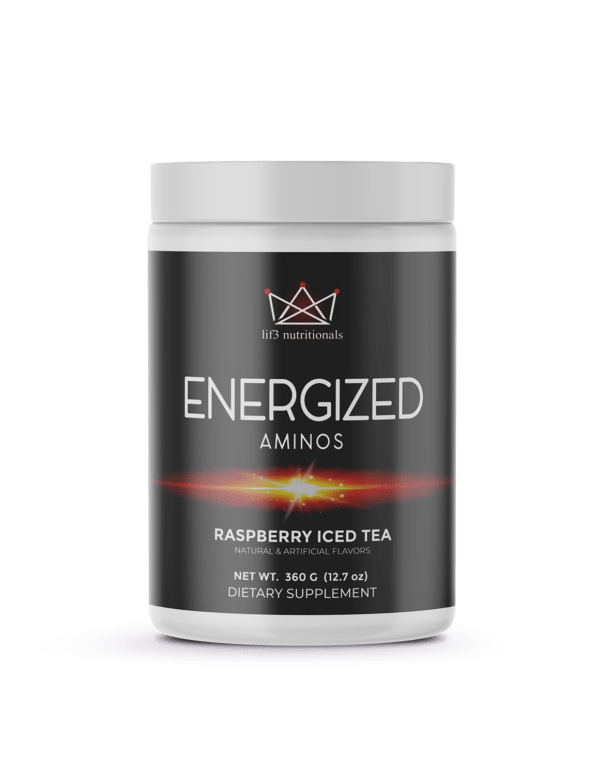 Energized Aminos Raspberry Iced Tea 360g